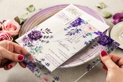 Próbne zaproszenie ślubne na szkle z kolekcji Korani nr 5