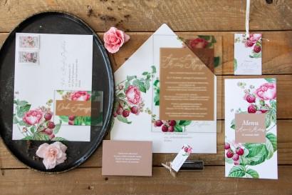 Zestaw próbny zaproszeń ślubnych na szkle z kolekcji Korani nr 7