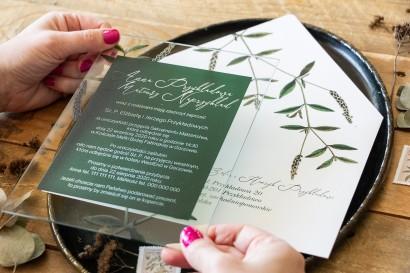 Próbne zaproszenie ślubne na szkle z kolekcji Korani nr 9
