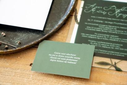 Bilecik do zaproszeń ślubnych z kolekcji Korani nr 9