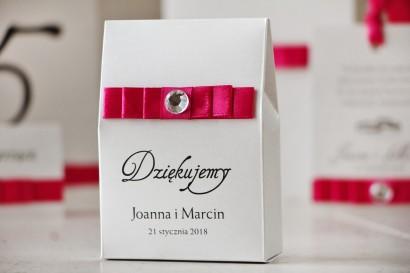 Pudełeczko na słodkości jako podziękowania dla gości weselnych - Elegancka kolekcja na papierze perłowym