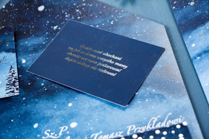 Bilecik do zaproszeń ślubnych ze srebrzeniem w stylu Glamour z kolekcji Pastelowe nr 6