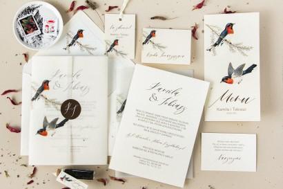 Zestaw Próbny zaproszeń ślubnych z kolekcji Opal nr 3