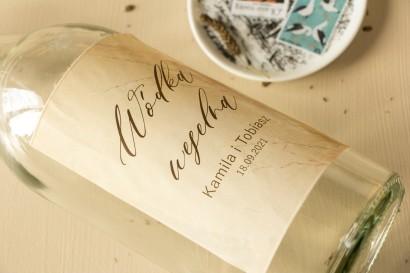 Ślubne Etykiety samoprzylepne na butelki weselne z motywem trawy pampasowej