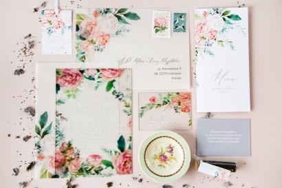 Zestaw próbny zaproszeń ślubnych na szkle Soft nr 1 - Amelia-Wedding.pl