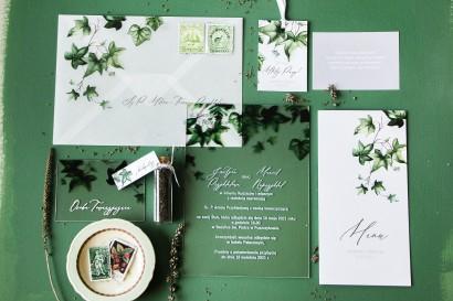 Zestaw próbny zaproszeń ślubnych na szkle Soft nr 2 - Amelia-Wedding.pl