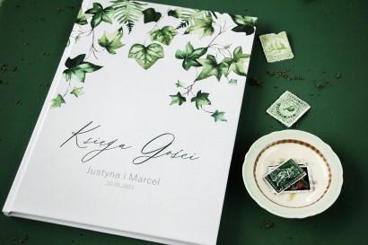 Ślubna Księga Gości z bluszczem w stylu greenery