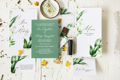 Zestaw próbny zaproszeń ślubnych z kolekcji Serenity nr 1 - Amelia-Wedding.pl