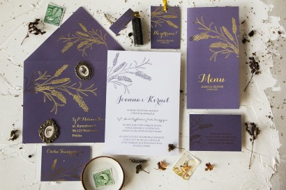 Zestaw próbny zaproszeń ślubnych Pattern nr 3