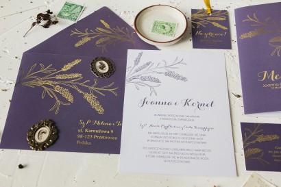 Próbne zaproszenie ślubne z kolekcji Pattern nr 3
