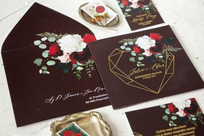 Próbne Zaproszenie Ślubne ze złoceniem z kolekcji Szafirowe nr 9