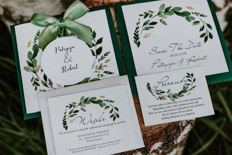 Zaproszenia ślubne Akwarele Nr 23 Amelia Wedding