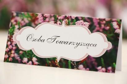 Winietki na stół weselny, ślub - Felicja nr 1 - Wrzosowe pole
