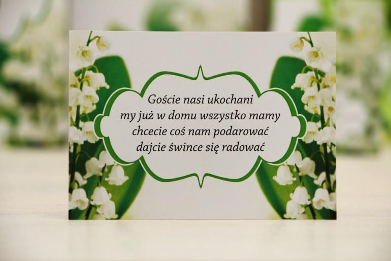 Bilecik prezenty ślubne wesele - Felicja nr 3 - Wiosenne konwalie - zaproszenia na ślub