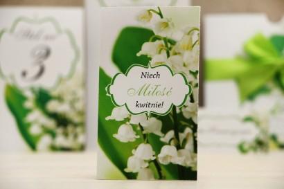 Podziękowania dla Gości weselnych - nasiona Niezapominajki - Felicja nr 3 - Białe konwalie - dodatki ślubne