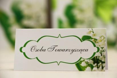 Winietki na stół weselny, ślub - Felicja nr 3 - Białe konwalie - kwiatowe dodatki ślubne