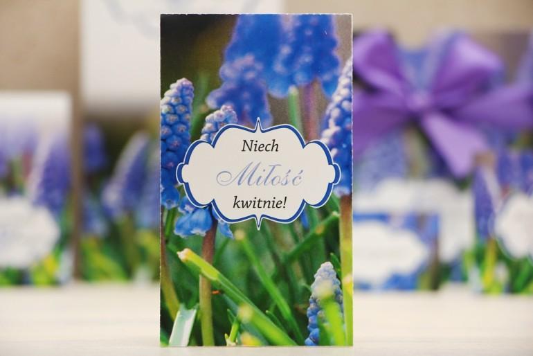 Podziękowania dla Gości weselnych - nasiona Niezapominajki - Felicja nr 4 - Szafirki - kwiatowe dodatki ślubne