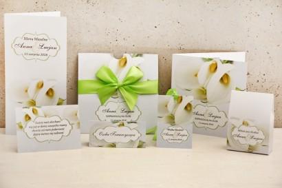 Zaproszenie ślubne z dodatkami - Felicja nr 5 - Delikatne białe kalie
