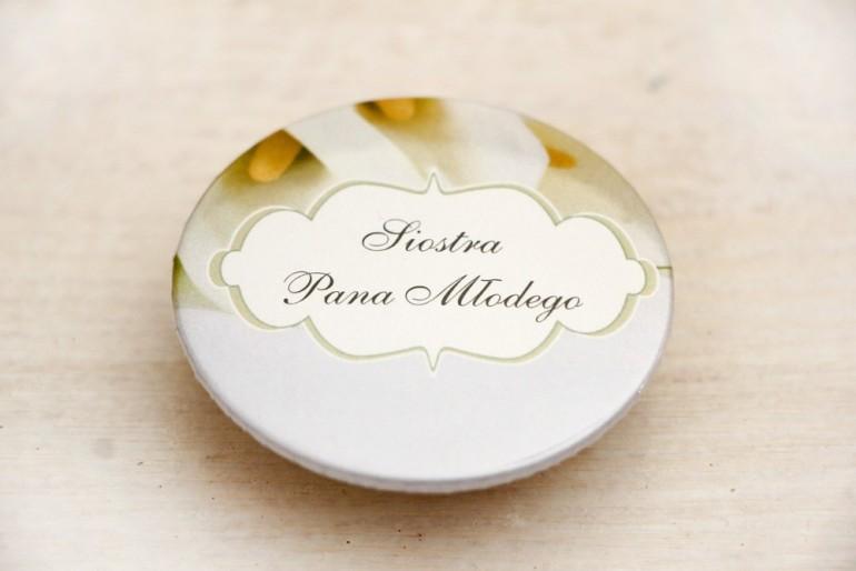 Przypinki dla Gości weselnych, dodatki na wesele, ślub, przypinka - Felicja nr 5 - Białe kalie