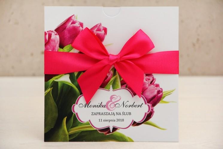 zaproszenia ślubne tulipan