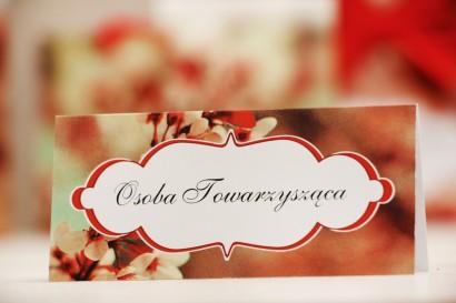 Winietki na stół weselny, ślub - Felicja nr 8 - Kwiaty wiśni - kwiatowe dodatki ślubne