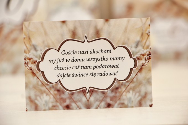Bilecik prezenty ślubne wesele - Felicja nr 10 - Polna trawa - zaproszenia na ślub