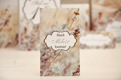 Podziękowania dla Gości weselnych - nasiona Niezapominajki - Felicja nr 10 - Polna trawa - kwiatowe dodatki ślubne