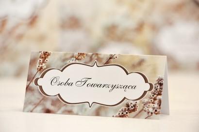 Winietki na stół weselny, ślub - Felicja nr 10 - Polna trawa - kwiatowe dodatki ślubne