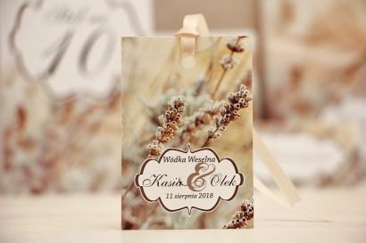Zawieszka na butelkę, wódka weselna, ślub - Felicja nr 10 - Polna trawa - kwiatowe dodatki ślubne