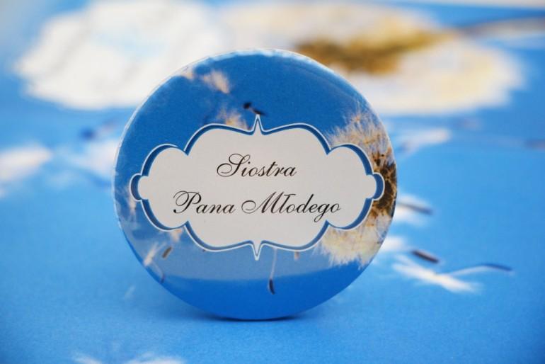 Przypinki dla Gości weselnych, dodatki na wesele, ślub, przypinka - Felicja nr 11 - Dmuchawce