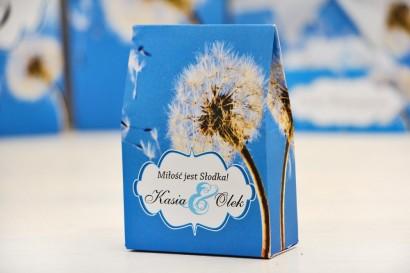 Pudełeczko stojące na cukierki, podziękowania dla Gości weselnych - Felicja nr 11 - Dmuchawce - dodatki ślubne