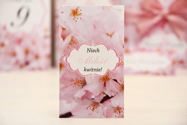 Podziękowania dla Gości weselnych - nasiona Niezapominajki - Felicja nr 13 - Kwiaty wiśni - kwiatowe dodatki ślubne