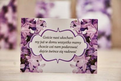 Bilecik prezenty ślubne wesele - Felicja nr 14 - Fioletowe dzwonki - zaproszenia na ślub