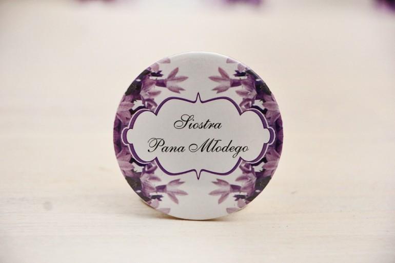 Przypinki dla Gości weselnych, dodatki na wesele, ślub, przypinka - Felicja nr 14 - Fioletowe dzwoneczki