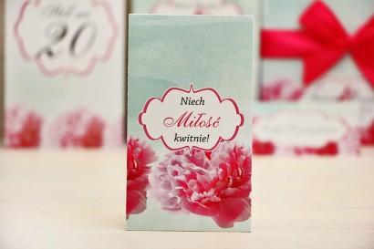 Podziękowania dla Gości weselnych - nasiona Niezapominajki - Felicja nr 15 - Amarantowe kwiaty z miętą - kwiatowe dodatki ślubne