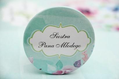 Przypinki dla Gości weselnych, dodatki na wesele, ślub, przypinka - Felicja nr 17 - Kolorowe, pastelowe kwiaty