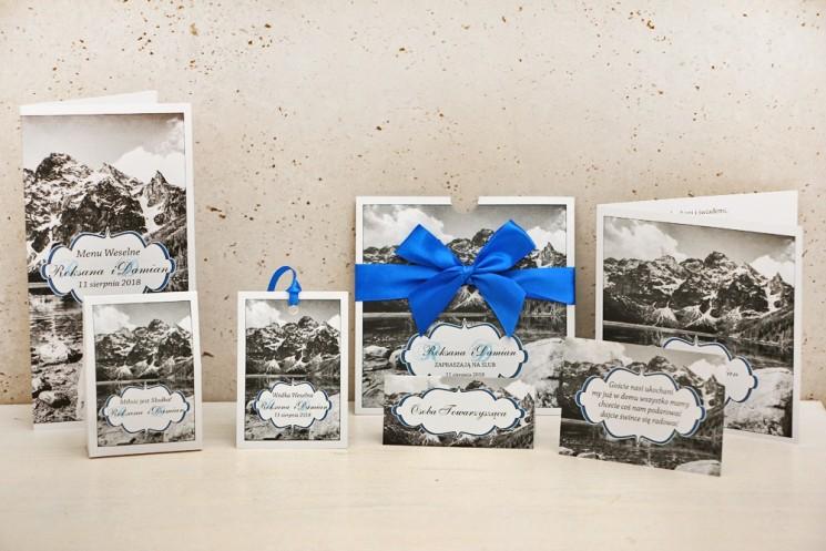 Zaproszenie ślubne z dodatkami weselnymi - Felicja nr 21 - Górski krajobraz