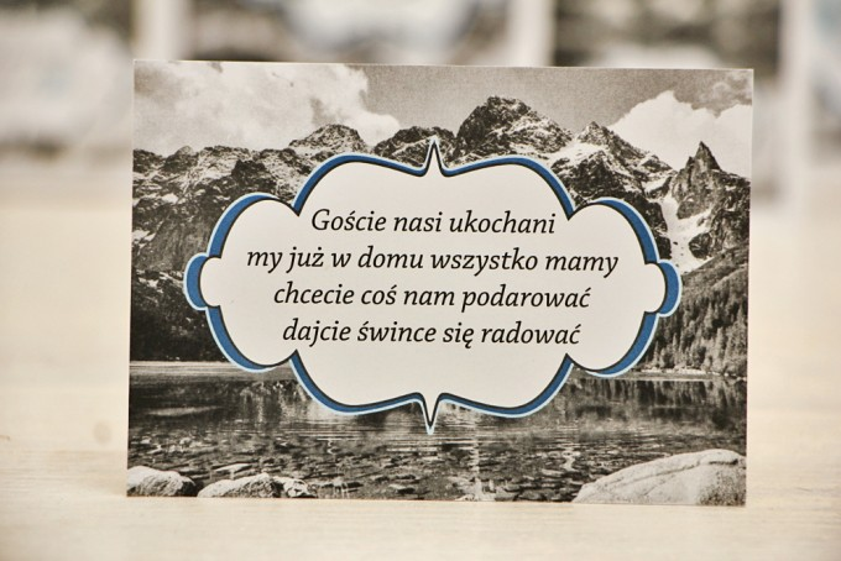 Bilecik prezenty ślubne wesele - Felicja nr 21 - Górski krajobraz - Zaproszenia na ślub