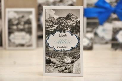 Podziękowania dla Gości weselnych - nasiona Niezapominajki - Felicja nr 21 - górski krajobraz - dodatki ślubne