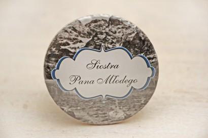 Przypinki dla Gości weselnych, dodatki na wesele, ślub, przypinka - Felicja nr 21 - Górski krajobraz