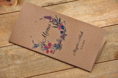 Menu weselne, stół weselny - Owoce Leśne nr 1 - Jeżyny - ekologiczne dodatki ślubne