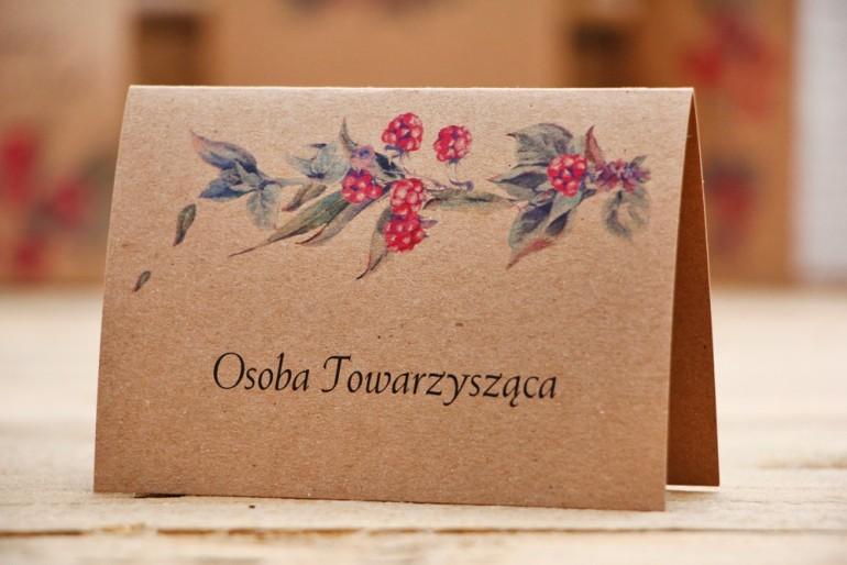 Winietki na stół weselny, ślub - Owoce Leśne nr 1 - Jeżyny - ekologiczne dodatki ślubne