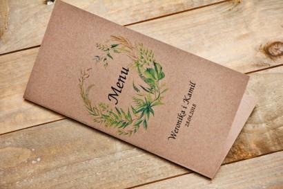 Menu weselne, stół weselny - Owoce Leśne nr 2 - Polna trawa - ekologiczne dodatki ślubne