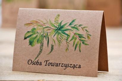 Winietki na stół weselny, ślub - Owoce Leśne nr 2 - Polna trawa - ekologiczne dodatki ślubne