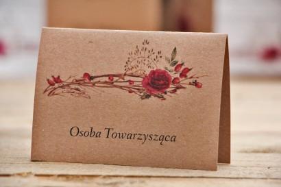 Winietki na stół weselny, ślub - Owoce Leśne nr 7 - Zimowo-świąteczne - ekologiczne dodatki ślubne