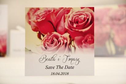 Bilecik Save The Date do zaproszenia ślubnego - Felicja nr 1 - Eleganckie róże