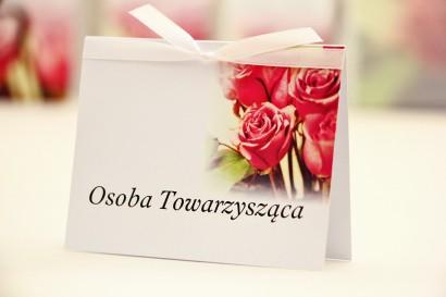 Winietki na stół weselny, ślub - Elegant nr 1 - Eleganckie róże - kwiatowe dodatki ślubne