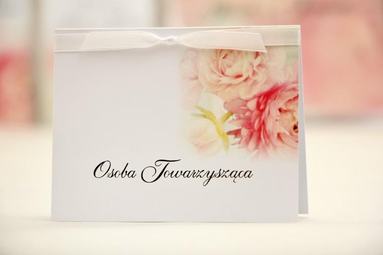 Winietki na stół weselny, ślub - Elegant nr 4 - Pudrowe piwonie - kwiatowe dodatki ślubne