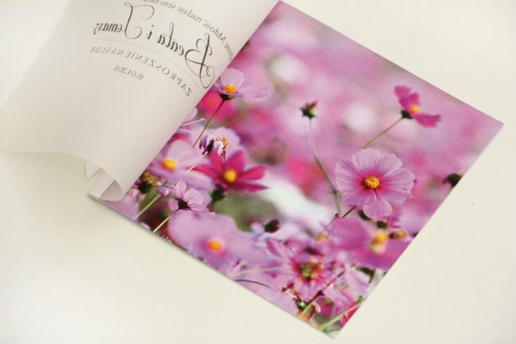 Zaproszenie ślubne, zaproszenia na ślub eleganckie z kalką - Elegant nr 5 - Fioletowe kwiaty