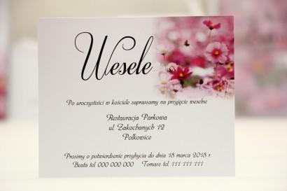 Bilecik do zaproszenia 120 x 98 mm prezenty ślubne wesele - Elegant nr 5 - Fioletowe polne kwiaty